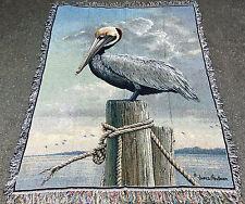 Egret Tapestry Afghan Throw ~ Artist, James Hautman