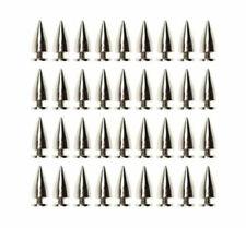 John Lewis Metal Punk Spike Screw in Cone gold gunmetal 8mm 16 piece pack set