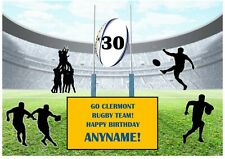 Clermont Rugby Team! A4 Personalised EASY PEEL PRECUT Icing Sheet Cake Topper