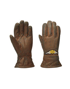 Harley-Davidson Women's Element Leather Gloves, Brown Free Shipping