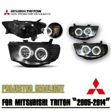 MITSUBISHI TRITON L200 MN ML 05-14 PROJECTOR HEADLIGHT CCFL BLACK SMOKE LENS