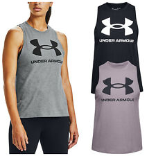 2020 Under Armour Ladies Sportstyle Graphic Tank Top Womens Gym Vest Top T-Shirt