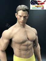 1/6 Captain America Chris Evans head WITH Phicen Seamless Male Muscular Body M34