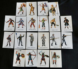 MARX WARRIORS OF THE WORLD - 20 INDIVIDUAL CARD GROUP