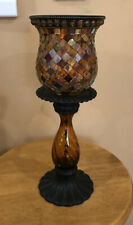 Partylite Global Fusion Mosaic Candle Taper Holder & Peg Light