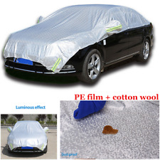 Sliver Semi-body Car Cover Fitted  Water Proof Rain Snow Sun Dust UV Protection