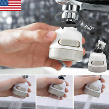 360° Kitchen Bathroom Faucet Spray Sink Tap Head Splash Filter Nozzle 3 Modes US