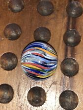 """Early Antique German Josephs Coat Multi Color Onion Skin Mica 1"""" inch 9.8 NM+"""