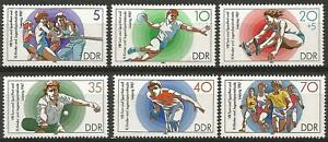 Germany (East) DDR 1987 MNH - Gymnastics and Sports Festival Handball Bowling
