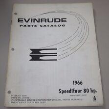 Parts Catalog Evinrude Speedifour 80 HP Ersatzteilkatalog ET Katalog Stand 1966!