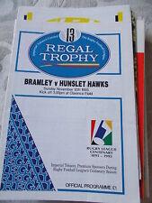 12.11.95 Bramley V NOMADI Hawks programma Regal TROPHY