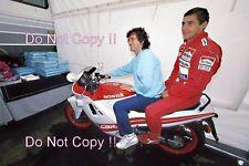 Ayrton Senna & Alain Prost McLaren F1 Portrait 1989 Photograph