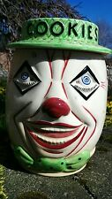 "Vintage Mid Century 9.5"" SCARY CLOWN Ceramic COOKIE JAR Made in England LANGDALE"