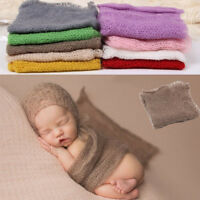 Baby Newborn Photography Photo Prop Stretch Wrap Knit Long Ripple Mohair Cloth