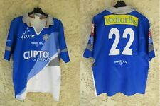 Maillot rugby CASTRES OLYMPIQUE vintage porté n°22 FORCE XV match worn shirt XL
