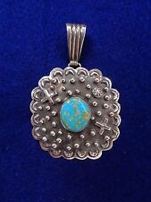 Daniel Mike Navajo Pendant Crosses, Rain Drops and Turquoise Sterling Silver