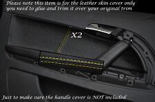 Jaune stitch 2x carte porte garniture en cuir peau couvre Fits Audi A3 S3 8P 03-12 3dr