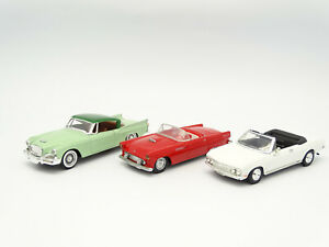 Solido / Dinky / Road Champs SB 1/43 - Lot de 3 : Studebaker - Chevrolet - Ford
