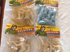 Vintage Giant 6 Inch Soldiers Unbreakable Plastic Lot Of 4