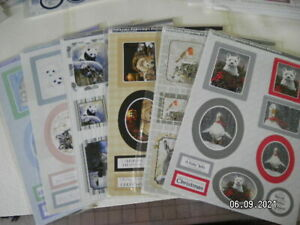 Die Cut Pollyanna Pickering Christmas Toppers. Choice of 6 Designs. (X113)