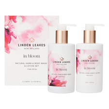 Linden Leaves in Bloom pink petal hand & body wash & lotion boxed set