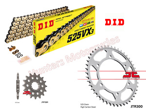 Yamaha TDM900 DID Gold X-Ring Heavy Duty Chain and JT Sprockets Kit Set