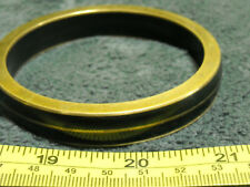 Black Plastic Inlay Vintage? Brass Bangle Bracelet with