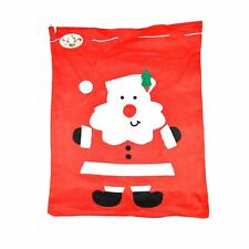 LARGE FATHER CHRISTMAS SANTA SACK RED STOCKING BAG GIFT PRESENTS XMAS TOY