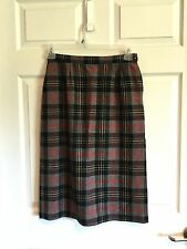 Pendleton, Woman's 10, Skirt, Black, Gray, Red, Yellow, Plaid, Pure Virgin Wool