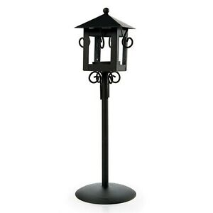 Tall Black Lantern Metal Glass Wedding Table Decor Candle Centerpiece MW55078