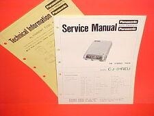 1971 PANASONIC FM MPLX STEREO PACK RADIO FACTORY SERVICE MANUAL MODEL CJ-81REU