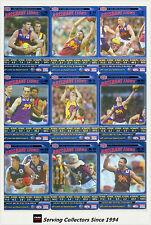 2006 AFL Teamcoach Tradinging Card Blue Platinum Team Set Brisbane (9)