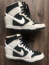 Nike Dunk Sky Hi Essential Hidden Wedge Shoes Womens Size 9.5 Wedge White Black