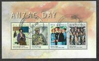 Australia Anzac  Min sheet fine used cto - 2020