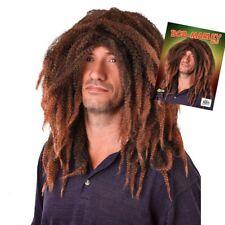 Bob Marley Wig  Rasta Jamaican Hair Fancy Dress Regga Adult Black New Reggae Man