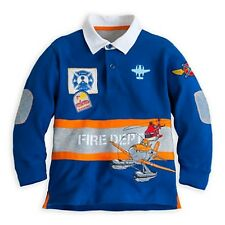 DISNEY STORE PLANES: FIRE & RESCUE RUGBY TOP SHIRT BOYS SIZE 4 VERY NICE NWT