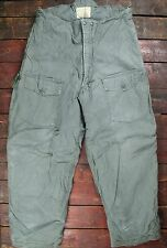 VTG '74 VIETNAM ERA USAF CWU-6/P INSULATED COLD WEATHER FLIGHT TROUSERS MEDIUM