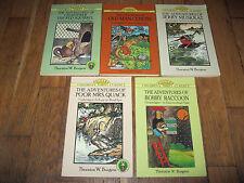 Lot 5 Thornton W. Burgess Dover Children's Thrift Classics Bobby Raccoon Quack +