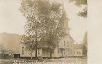 CINCINNATUS NY – M.E. Church Real Photo Postcard rppc