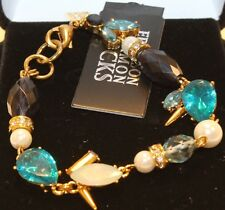 Erickson Beamon CRYSTAL Chunky faceted Glass jewels bracelet New In Box