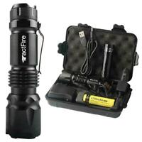 20000Lumens Zoom LED Flashlight Torch Rechargeable 18650 Lamp w/ Battery+Charger