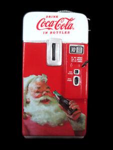 Coca-Cola Kurt S Adler Santa with Coke Bottle Vending Holiday Christmas Ornament