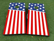 US USA flag patriotic Cornhole Board Game Decal VINYL WRAPS with LAMINATED