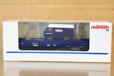 MARKLIN MÄRKLIN 84694 DB MARKLIN MAGAZIN 1993 FLAT WAGON with VW VAN LOAD