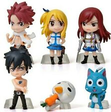 FAIRY TAIL/SET 6 PCS NATSU ERZA LUCY GRAY 6 CM- SET 6 FIGURES NO BOX