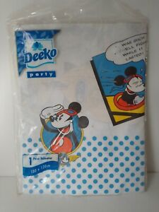 Vintage Deeko Disney Paper Tablecover MICKEY MOUSE Birthday Party Tablecloth
