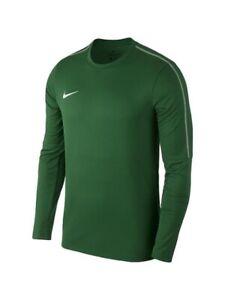 NWT Nike Youth Unisex M Park18 Crew LS Soccer Futbol Top Shirt Green AA2089