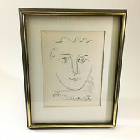 """VTG Orig. Pablo Picasso """"Pour Roby"""" Etching w/ COA Signed Framed New York DS66"""
