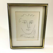 "VTG Orig. Pablo Picasso ""Pour Roby"" Etching w/ COA Signed Framed New York DS66"