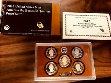 2012 -S* U.S. Mint America The Beautiful Silver Quarter Proof Set